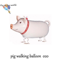 2017 New Arrived walking pig balloon very cute party decoration pet balloon for baby free shipping come on(China)