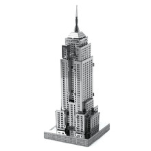 Creative 3D Metal model Puzzles Empire State Building Cut Jigsaw DIY Scale Model Architecture Best Toys For Kids TK0125
