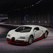 1:64 Bugatti Alloy car model kids toys Can open the door  Decorative Decoration Collection Pull Back