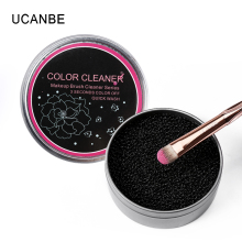 New Practical Sponge Box Makeup Brushes Cleaner Tool Dry Clean Blush Eyeshadow Eyebrow Brush Professional Remover Color Swich