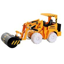 Electric Engineering Vehicle Mini Timber Grab Road Roller Model Simulation Construction Truck Cognitive Toy Children Toy Gift