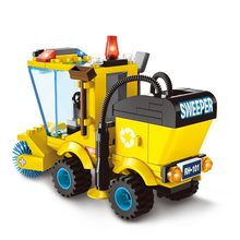 102pcs City Series Sweeper Truck Building Blocks City Construction Blocks Toy for Children Boys(China)