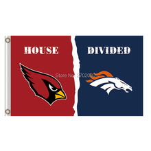 Red Arizona Cardinals Flag Vs Denver Broncos Banners Super Bowl Champions Fan Cardinals And Broncos Flag(China)