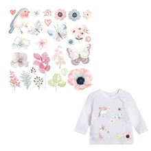 Patches for Kids Clothes Lovely Flower Animal Patch DIY Accessory A-level Washable Heat Transfer Iron Stickers Appliques