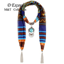 Retro-chic Boho Bijoux Fashion Tassel Pendant Scarf Necklaces For Women Femme High Quality