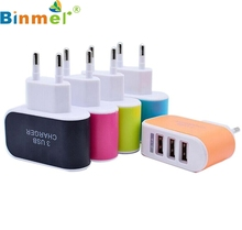 Top Quality 3.1A Triple USB Port Wall Home Travel AC Charger Adapter For iPhone Samsung for Tablet PC EU Plug DEC17(China)