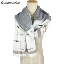 Gorgegous Branded Long Cotton Shawl Very comfortable Jacquard Hijab Wrap Pashmina Women Fashional Yarn-Dyed Weaving Scarf(China)