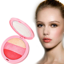 3 Colors Baked Blush Makeup Cosmetic Natural Baked Blusher Powder Palette Charming Cheek Color Make Up Face Blush Maquiagem