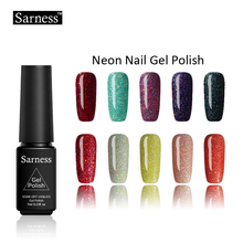 Sarness Nails Primer Neon UV Gel Nail Polish Soak Off UV Colorful for Nail Art Gel Polish Long-lasting Gels Varnish 19 Colors(China)