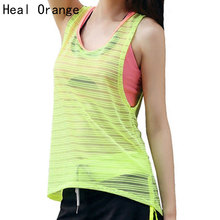 HEAL ORANGE Yoga Shirt Female Yoga Vest Sleeveless Tank Tops Women Fitness Shirts Woman Sport Clothes Gym Clothing For Women Top
