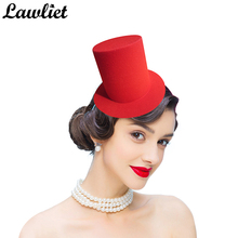 Mini Top Tall Hat Man Women Wedding Party Fascinator Hat EVA 9cm Millinery Hat Base DIY Craft Solid Man Women Dance Hat A006(China)