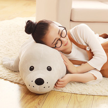 huge plush seal doll new creative gray seal toy gift about 120cm