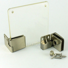 "cupboard cabinet show glass door clamp hinge 1/4"" (8mm) thickness glass"