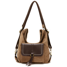 New Vintage Women Messenger Bag Canvas Handbags Female Casual Tote Fashion Crossbody Shoulder Bags for Women Back Bag Wholesale