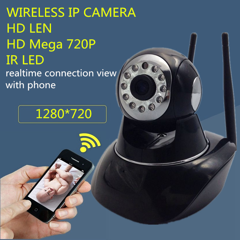 HD 720P Wireless PT IP Camera Wifi CMOS Night Vision H264 IR Secuirty Motion Detection Home Security Onvif alarm recorder baby<br><br>Aliexpress