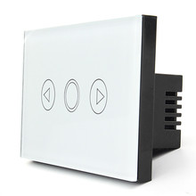 1 Gang Home Light Lamp LED Touch Sensor Remote Control Dimmer White Crystal Panel Wall Smart Switch US(China)