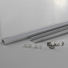 10PCS DHL 1 m LED strip aluminum profile for 5050 5630 LED hard bar light led bar aluminum channel housing with cover end cover(China)