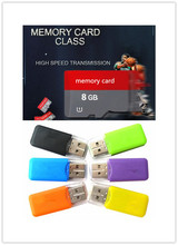 Wholesale Micro TF Card Class 10 TF Memory Card  T-Flash Transflash 2GB 4GB 16GB 8GB reader+adapter free Gift T1