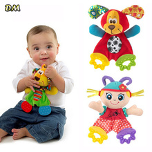 1PC Baby Teether Baby Infant Animal Pacify Dolls Towel Teething Developmental Toys Lion Dog