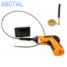 "Explorer 8807AL Inspection Camera  BOROSCOPE 1M Cable 4.5 mm 3.5"" LCD Recordable Wireless Inspection Camera / Video Borescope"