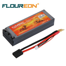 FLOUREON RC Battery 2S 30C 7.4V 5200mAh (TRX Traxxas Plug) Li-Polymer RC Helicopter RC Car Truck Truggy RC Hobby Spare Part