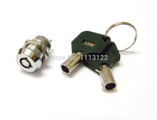 Mini Key Switch Lock Tubular key number 102 Switch Lock with Plastic Handle Electronic Lock Two Terminals 2 key pulls 1 pc