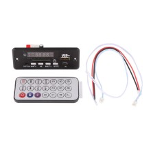 Wireless MP3 Decoder Board Red Digital Display LED USB TF Wireless Communication Module Audio Module Car Remote Control(China)