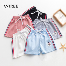 V-TREE Summer Baby Boys Girls Shorts Cotton Cotton Sports Short Pant For Boy Kids Children Beach Shorts Baby Clothes 2-8 Year