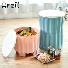 Storage Box Stool Laundry Basket Snack Organizer Cute Cartoon Clothes Toys Zakka Waterproof Debris Kids Stool With Lid(China)