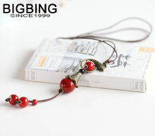 BIGBING Jewelry Fashion ceramic key Hand knitting necklace high quality nickel free Free shipping C089