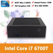 Wolferdtech High Performance Mini PC With 6th Generation Intel i7 6700T HD Graphics 530,1*M.2 2280 SSD, 1*SATA3.0 HDD/SSD