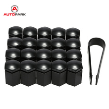 car-styling 20Pcs/set Wheel Lug Bolt Center Nut Covers Caps Vehicle Auto Car Wheel Nut Bolt Cover Cap black 17 * 30mm(China)