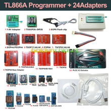 Original New TL866A Universal Minipro Programmer+24 Adapters+Test Clip+1.8V Adapter TL866 AVR PIC Bios High speed Programmer(China)