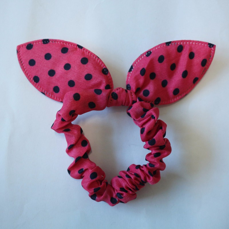 10PCSlot Fashion Girls Hair Band Mix Styles Polka Dot Bowknot Rabbit Ears Elastic Hair Ropes Ponytail Holder for Woman Headwear