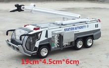 Alloy model car sound and light alloy back of the fire truck ladder fire truck model Rescue Pull Back