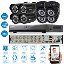 KKMOON 16CH 960H/D1 DVR Kit 800TVL Security Camera System Outdoor 16CH CCTV DVR Onvif Recorder 4*Dome Camera 4*Waterproof Camera(China)