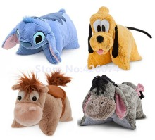 Stitch Pluto Eeyore Toy Story Bullseye Horse Pal Pet Plush Pillow Fold For Girls Boys Stuffed Cushion Kids Toys Children Gifts