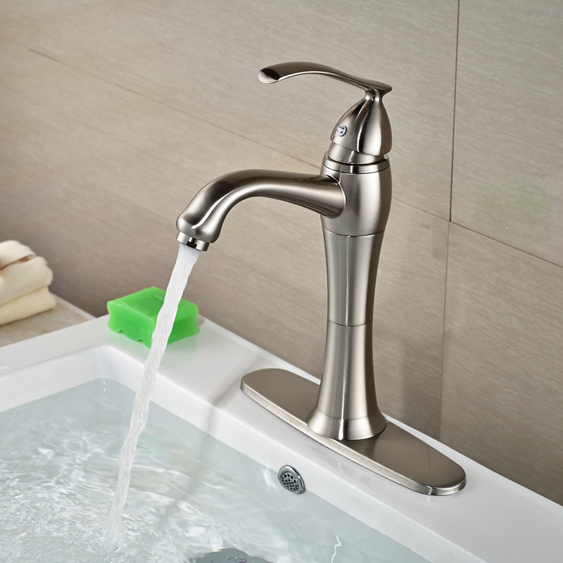 Single lever bathroom faucets