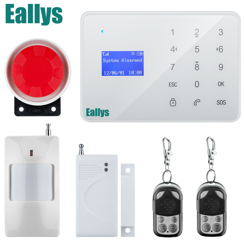French/Russian/Spanish Voice GSM Autodial Home Security Alarm System+iOS App/ Android App Sensor Alarm Security System home<br>