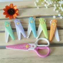 DIY Cute Kawaii Plastic Scissors For Paper Cutter Scrapbooking Kids Office School Supplies Korean Stationery Free Shipping 1204(China)