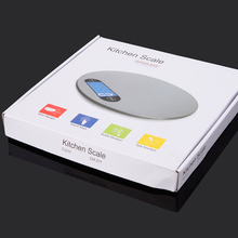 2017 New 5KG/1G Portable Round Touch Button Tray Electronic Scale Weight Balance Kitchen/Food/Postal/Laboratory/Factory Scale(China)