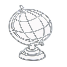 Metal Globe Scrapbooking Paper Card Cutter Silver Cutting Dies Stencil for Photo Album Decoration Embossing Folder Craft