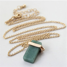 Europe and the United States foreign trade the original single act the role ofing is tasted natural stone pendant long necklace