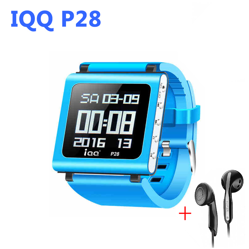 IQQ P28 watch mp3 player sport with lossless recorder hifi mp3 music player radio fm Support Micro TF Card Slot 16/32/64GB(China (Mainland))