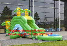 (China Guangzhou) manufacturers selling inflatable slides,Jungle Pool Slide KY-673