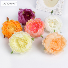 DIY artificial peony flower heads Multicolor Road lead wedding flower Bouquet hotel background wall decor(China)