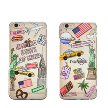 Cute American Dream USA New York City American Flag Hard plastic Phone Case Cover For iPhone 7 7 Plus 6 6S Plus 6 6S 5 5S SE