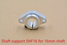 SHF16 16mm bearing shaft support for 16mm rod round shaft support diy XYZ Table CNC Router 1pcs