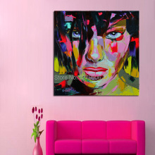 Francoise Nielly Stree Art Pop Art Oil painting on canvas high Quality Hand-painted Painting Girl Stareing