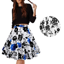 Printing Half-body Skirt European Spring And Summer Heat Pin Cotton Suit Will Code Thick And Disorderly  002